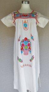 ☆メキシコ刺繍チュニック☆マンタ生地