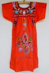 ✡子供用 メキシコ刺繍ワンピース✡着丈68cm