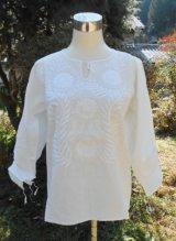 再入荷✡メキシコ アグアカテナンゴ村 手刺繍 ブラウス✡マンタ生地
