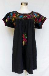 ☆メキシコ 刺繍 チュニック☆ブラック