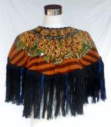 *グアテマラ・民族衣装ウィピル 手刺繍ポンチョ*