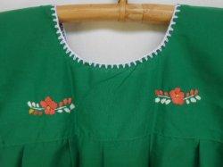 画像5: ✡子供用 メキシコ刺繍ワンピース✡着丈57cm