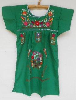 画像1: ✡子供用 メキシコ刺繍ワンピース✡着丈57cm
