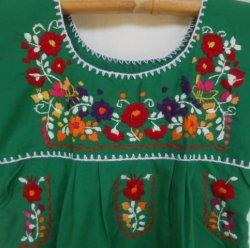 画像2: ✡子供用 メキシコ刺繍ワンピース✡着丈60cm