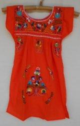 ✡子供用 メキシコ刺繍ワンピース✡着丈55cm