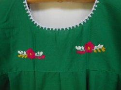 画像5: ✡子供用 メキシコ刺繍ワンピース✡着丈60cm