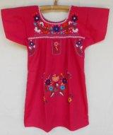 ✡子供用 メキシコ刺繍ワンピース✡着丈58cm