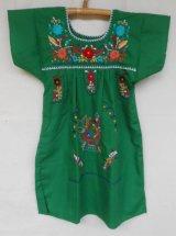 ✡子供用 メキシコ刺繍ワンピース✡着丈57cm