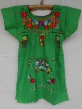 ✡子供用 メキシコ刺繍ワンピース✡着丈60cm