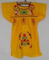 ✡子供用 メキシコ刺繍ワンピース✡着丈59cm