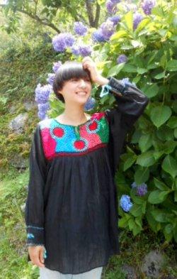 画像2: ✡メキシコ アグアカテナンゴ村 手刺繍 ブラウス チュニック✡