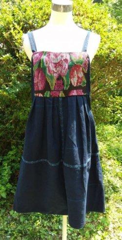 画像1: グアテマラ オーバーオールスカート サロペスカート