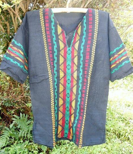 グアテマラ メンズ刺繍クルタ ラスタ